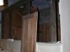 Leeres Orgelgehäuse während der Dachsanierung