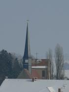 Kirche Langebrück. Foto: R. Reitz, fotografiert am 11.2.2012